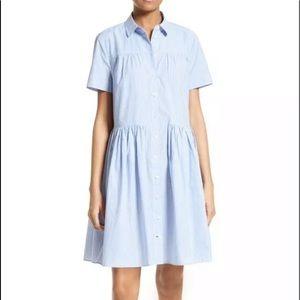 NWT Kate Spade Striped Poplin shirtdress, Sz XXS